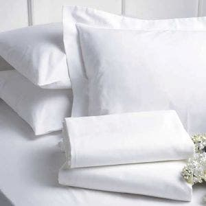 Georgetown Polycotton Sateen White Pillow Shams Set, 300 thread count