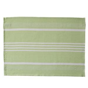 Pistachio Herringbone Stripe Kitchen Towel
