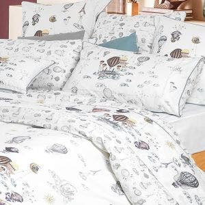 Voyage en Ballon Vintage Pillow Case