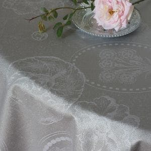 Mille Eclats Macaron Irise Tablecloth, Coated Cotton