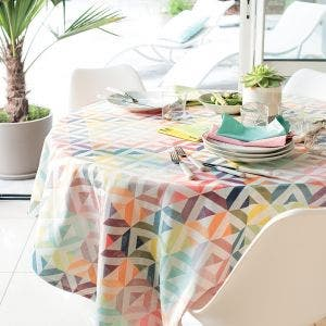 Mille Twist Pastel Tablecloth