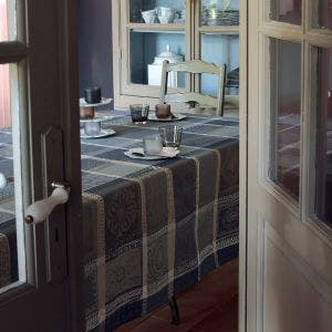 Mille Wax Cendre Tablecloth