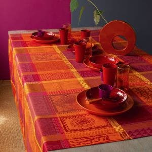 Mille Wax Ketchup Tablecloth