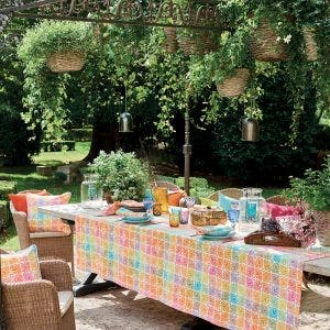 Mille Paons Festival Tablecloth