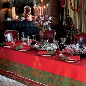 Noel Baroque Rouge Tablecloth