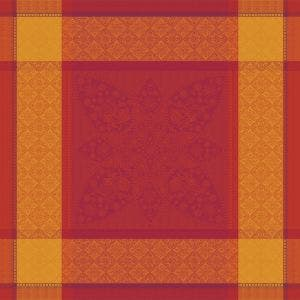 "Palerme Orange Sanguine Napkin 22""x22"", 100% Cotton"