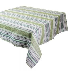"Sombrilla Olive Tablecloth 45""x45"", 100% Linen"