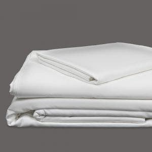 Monaco Percale White Sheet Set, 300 thread count