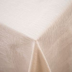 Organic All Over Ivory Tablecloth