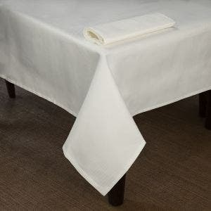Overall Partridge Eye White Tablecloth