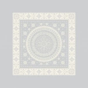"Imperatrice Argent Napkin 21""x21"", Cotton/Polyester"