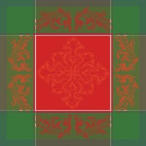 "Noel Baroque Rouge Napkin 22""x22"", 100% Cotton"