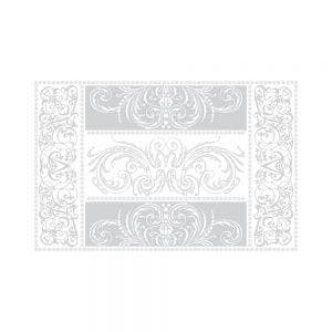 "Alexandrine Snow Placemat 21""x15"", Organic Cotton"