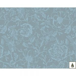 "Mille Charmes Bleu Louis XVI Placemat 16""x20"", Coated Cotton"