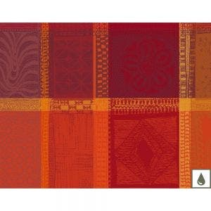 """Mille Wax Ketchup Placemat 16""""x20"""", Coated Cotton"""