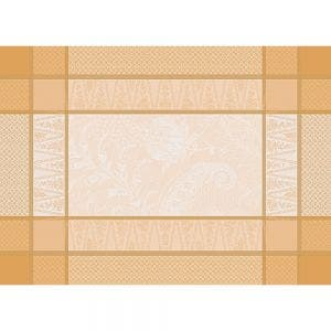 """Persina Dore Or Placemat 21""""x15"""", Green Sweet Stain-resistant Cotton"""