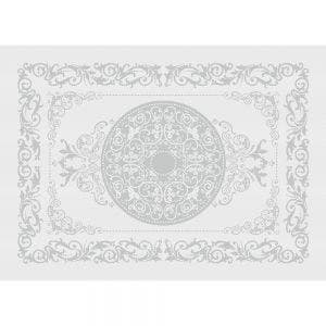 "Comtesse Blanc Placemat 21""x15"", Green Sweet Stain-resistant Cotton"