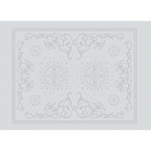 "Eloise Diamant Placemat 21""x15"", Green Sweet Stain-resistant Cotton"