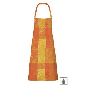 "Mille Banquets Ocre Apron 30""x33"", Coated Cotton, no pocket"