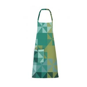 "Mille Quartz Emeraude Apron 28""x33"", Coated Cotton"