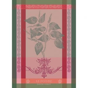 "Brin de Poivre Rose Kitchen Towel 22""x30"", 100% Cotton"