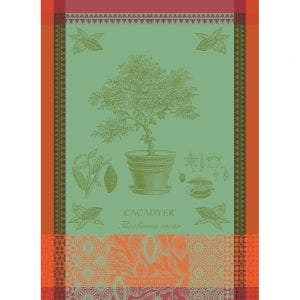 "Cacaoyer en Pot Vert Kitchen Towel 22""x30"", 100% Cotton"