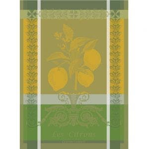 "Citron Zeste Kitchen Towel 22""x30"", 100% Cotton"