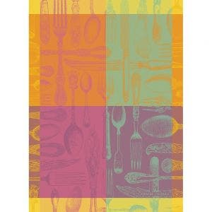 "Couverts et Couleurs Orange Kitchen Towel 22""x30"", 100% Cotton"