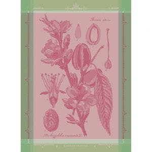"Fleurs d'Amandier Rose Kitchen Towel 22""x30"", 100% Cotton"