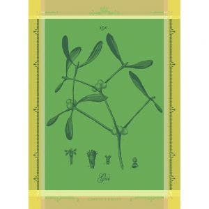"Gui Botanique Vert Kitchen Towel 22""x30"", 100% Cotton"