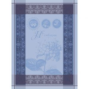 "Hortensia Blue Kitchen Towel 22""x30"", 100% Cotton"