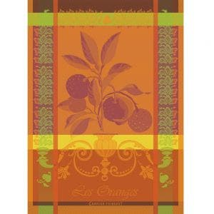 "Torchon Les Oranges Sanguine Kitchen Towel, 22""x30"", 100% Cotton"