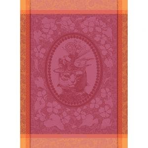 "Madame Chat Rose Kitchen Towel 22""x30"", 100% Cotton"