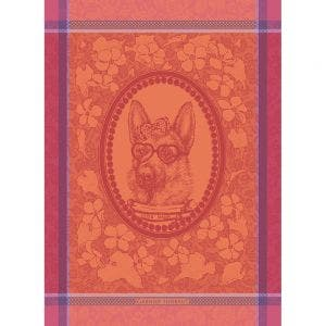 "Madame Chien Rose Kitchen Towel 22""x30"", 100% Cotton"