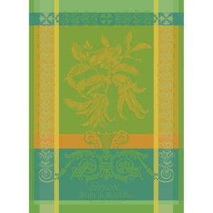 "Main de Bouddha Vert Kitchen Towel 22""x30"", 100% Cotton"