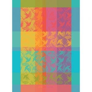 "Mille Colibris Tor Antilles Kitchen Towel 22""x30"", 100% Cotton"