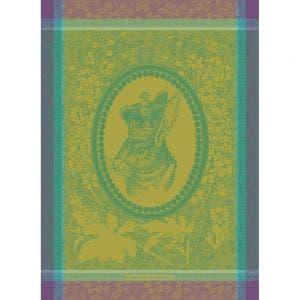 "Monsieur Lapin Vert Kitchen Towel 22""x30"", 100% Cotton"