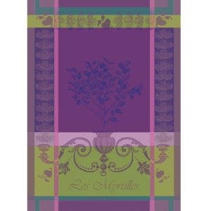 "Myrtilles Violet Kitchen Towel 22""x30"", 100% Cotton"