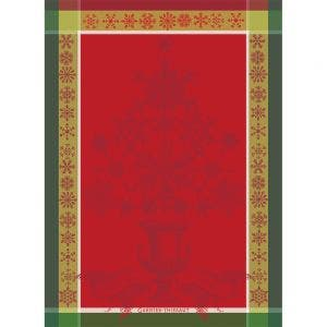 "Noel Baroque Rouge Kitchen Towel 22""x30"", 100% Cotton"
