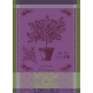 "Olivier En Pot Parme Kitchen Towel 22""x30"", 100% Cotton"