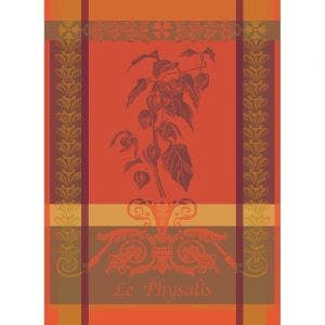 "Physalis Rouille Kitchen Towel 22""x30"", 100% Cotton"
