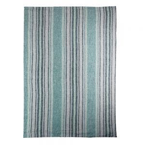 "Sombrilla Emeraude Kitchen Towel 20""x28"", 100% Linen"