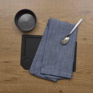 "Denim Blue Napkin 20""x20"", 100% Cotton, Set of 4"
