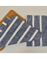 Dobby Stripe Blue Set of 2 Kitchen Towels