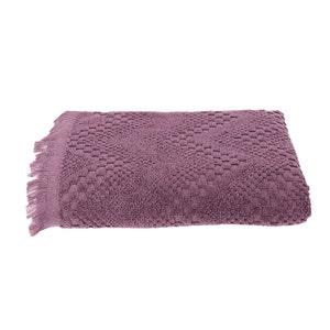 "Boheme Mauve Bath Towel, 28""x55"""