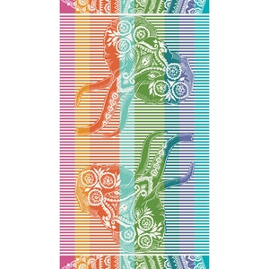 "Ganesh Rainbow Beach Towel, 39""x71"""