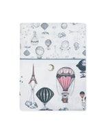 Voyage en Ballon Vintage Flat Sheet