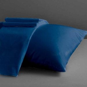 Dream Navy King Pillowcases Set, 200 thread count