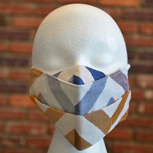 Reusable 2-layer NON Surgical Face Mask - Striped Multi-Color