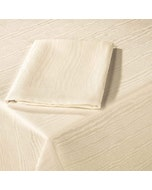 """Elm Crossbordered Ivory 63""""x63"""" Tablecloth"""